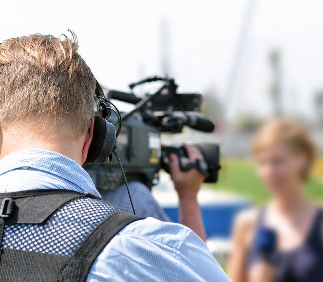 Medialive Fernsehteam vor Ort bei Aufzeichnung
